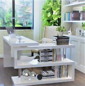 winkel wei schreibtisch b ro modern computertisch sekret r eckschreibtisch neu ebay. Black Bedroom Furniture Sets. Home Design Ideas