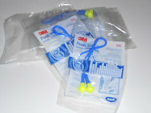 3M PUSH-INS CORDED FOAM EAR PLUGS WITH PLASTIC PUSH INS 10 PAIR