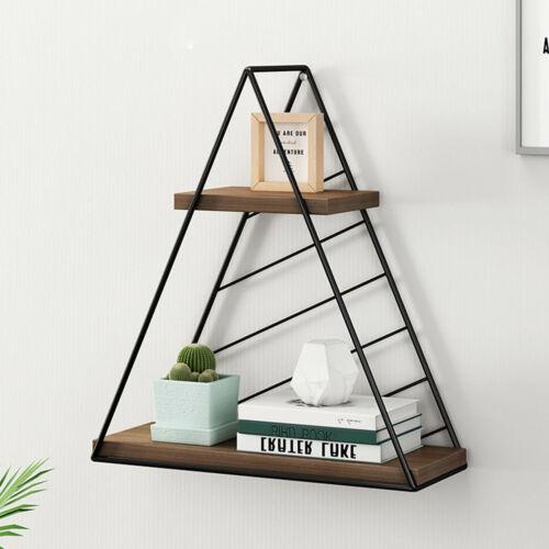 Multistyle Iron Wire Wall Shelf Combination Hanging Geometric Figure Decoration
