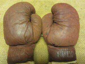 14 16 oz Boxing gloves Ring King Ltd All Gold Strapped Real leather Genuine 12