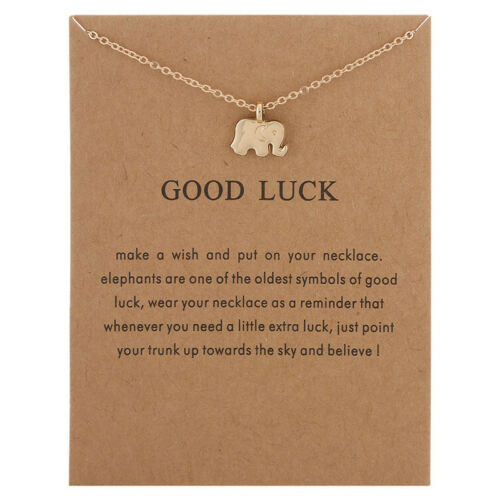 Women Necklace Pendant Gold Clavicle Chains Choker With Card Valentine/'s Gift