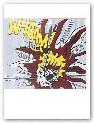 POP ART PRINT Whaam B Diptich Roy Lichtenstein
