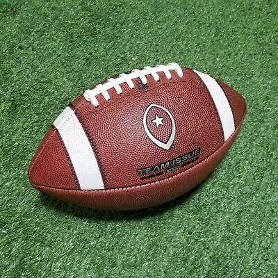 Random Logo Game Balls Stock #1003-tun-gst-EN Team Issue Leather Football