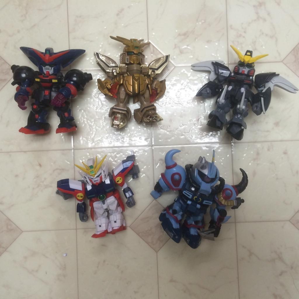 Bandai SD Gundam 4  Action Figures       Lot Set Of 5   2003 4d0281