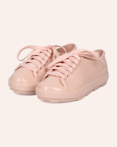 New-Girl-Mel-Dreamed-By-Melissa-Mel-Be-PVC-Lace-Up-Round-Toe-Low-Top-Sneaker