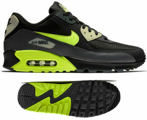 New NIKE Air Max 90 Essential Mens black gray volt all sizes