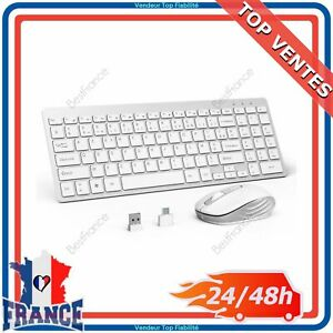Pack Clavier AZERTY + Souris Sans Fil Français Tablette PC