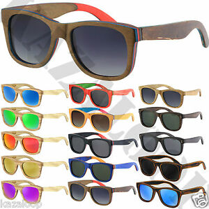 Wood-Bamboo-Frame-Hand-Made-Mirror-Gradient-Polarized-Lens-Sunglasses-Square