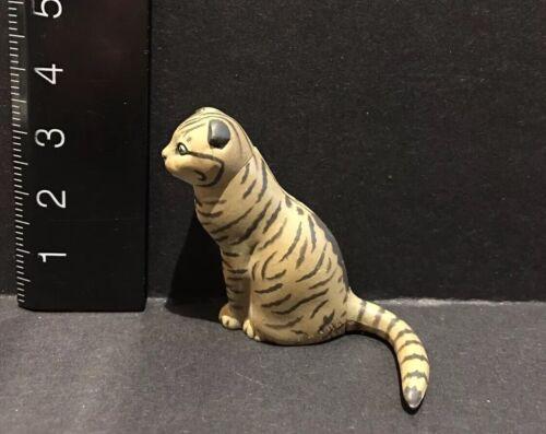 Kaiyodo Furuta Choco Q Pet Animal 1  Scottish Fold Cat Brown Figure B