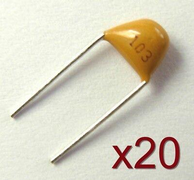 20x Condensateur c/éramique 10nF 50V