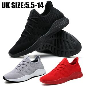 Mens-Gym-Sports-Shoes-Running-Trainers-Lace-Up-Casual-Pumps-Sneakers-Size-5-5-14
