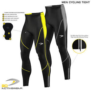 Mens-Padded-Cycling-Tights-Bike-Compression-Trousers-Bicycle-Long-Pants-Leggings
