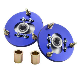 Front-Pair-Coilover-Pillowball-Camber-Plates-Top-Mounts-for-BMW-E36-3-Series-Arm