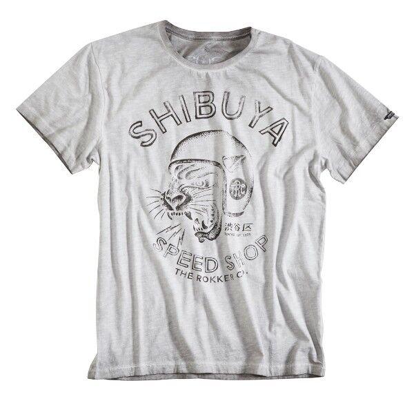 T-Shirt ROKKER Shibuya Light Frey Farbe  Hellgrey Gr  XXL