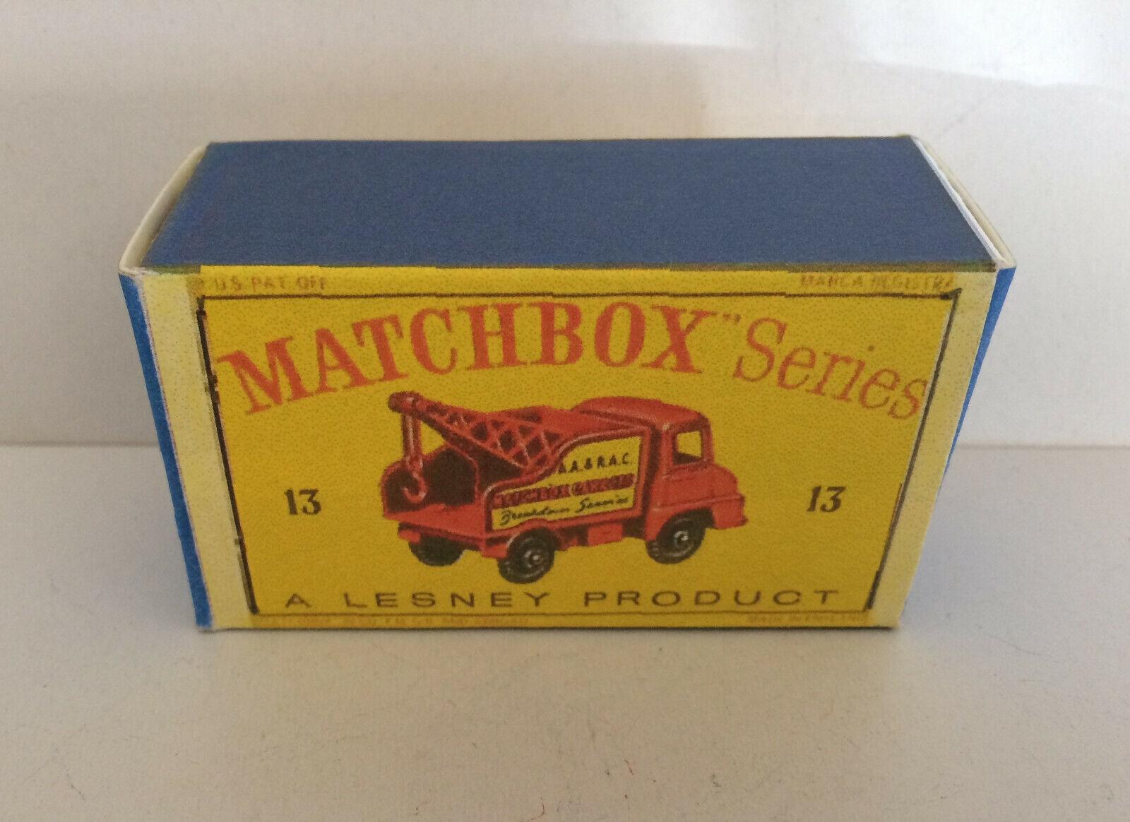 Matchbox Lesney Superfast #22 Dunkelrot Blaze Buster Neu auf Geöffnet Karte