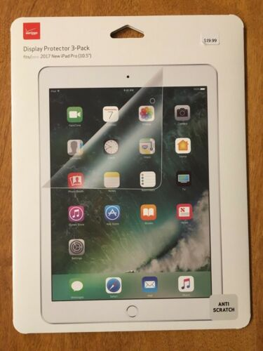 Verizon Display Protector 3-Pack for iPad Pro 10.5 Inches