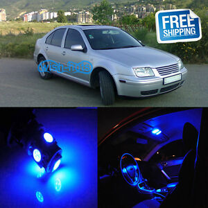 Image Is Loading 5x Blue Car Led Interior Lights Package Fit