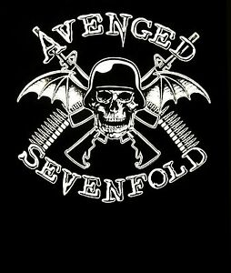 AVENGED-SEVENFOLD-cd-lgo-IN-BATTLE-Official-SHIRT-XL-New-helmet-deathbat