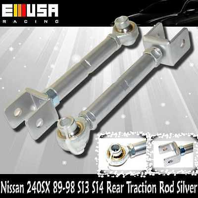 Rear SILVER Traction Rod for Nissan240SX 1989-1994 S13 1995-1998 S14 Adjustable