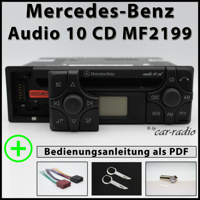Original Mercedes Audio 10 CD MF2199 Cd-R Alpine Becker Radio 1DIN Autorradio