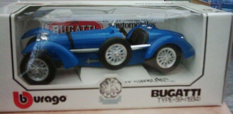 Vintage Bburago 1 18 model Bugatti Type 59 1934 made in
