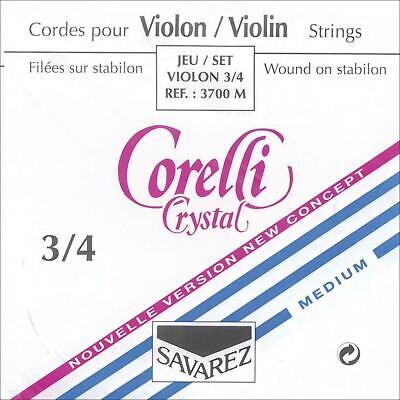 Corelli Crystal 4//4 Violin A String Medium Gauge Aluminum//Stabilon