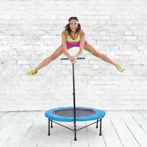 Fitness-Trampolin-Sport-Jumper-Mini-Indoor-mit-Griff-Life-Jumping-120kg