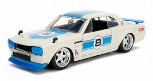 JADA-30002-NISSAN-SKYLINE-Hakosuka-2000-GT-R-model-car-number-8-1971-1-24-scale