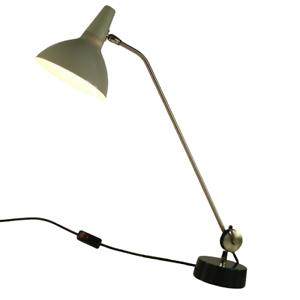 Kaiser Idell Tischlampe XL Gelenkarm Arbeitsleuchte Vintage 50er 60er Jahre Grau
