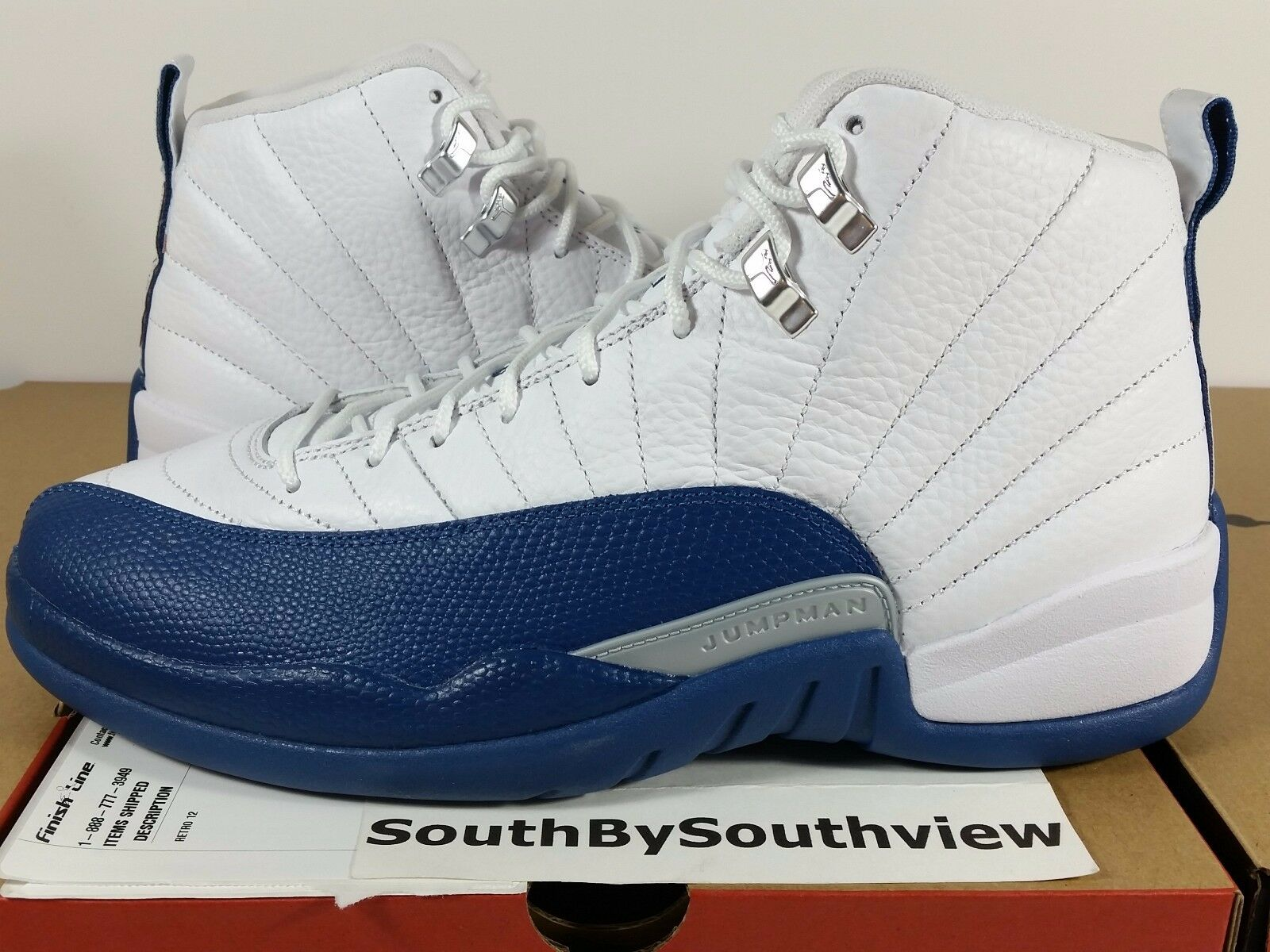 Nike Air Jordan 12 French bluee 2016 With Receipt XII Retro White 130690-113 DS