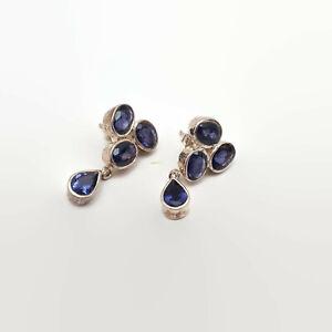 Amethyst-amp-Sterling-Silver-Cluster-Earrings