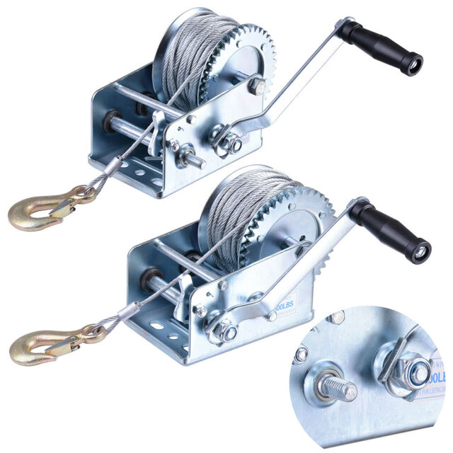 NEW Hand Winch 600lbs Trailer Caravan Without Cable Marine Puller Vehicle Car UK