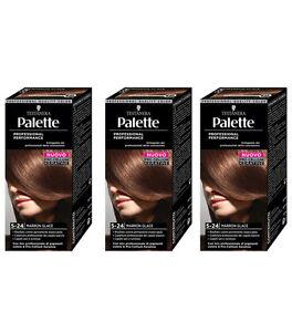 3pz-TESTANERA-PALETTE-5-24-Marron-Glace-colore-professionale-per-capelli-NUOVO