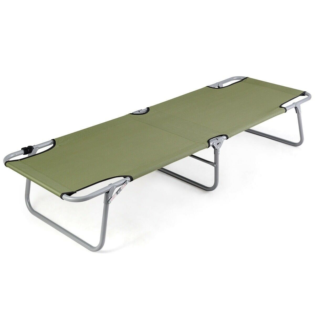 portable Folding Camping Bed Durable toile Army vert Military Type Cot