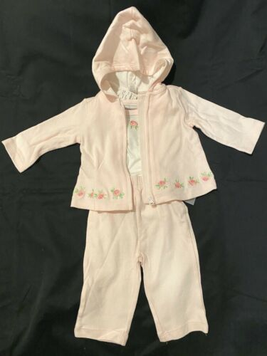 Details about  /First Impressions 3 pc Faintest Pink Layette Outfit 0-3 mo NWTS