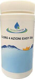 Cloro 4 Azioni Easy 1 kg Pastiglie 20Gr Piscina Spa Multifunzione Battericida