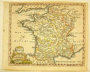 Card of France View By All English Map Of France By the English XVIII Britain