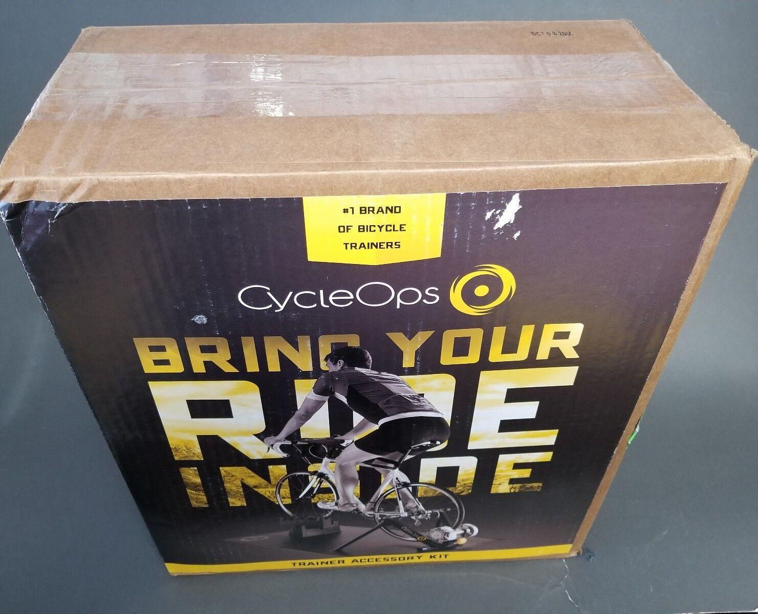 Nouveau Cycleops Trainer Kit d'accessoires 1 MAT 2 escalade Bloque 1 Sweat Guard 1 pneu