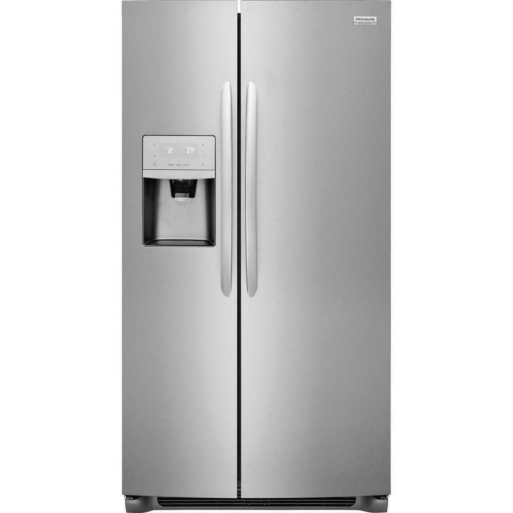 Frigidaire Gallery 25.6 Cu-Side-by-Refrigerator in Stainless Steel