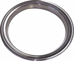"""15"""" NOS CHEVROLET GMC Stainless Steel Beauty Rings TRIM RING SET Of 4"""