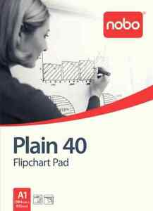 Nobo-Flipchart-Pad-Plain-Perforated-70gsm-40-Sheets-A1-Plain-Pack-of-5