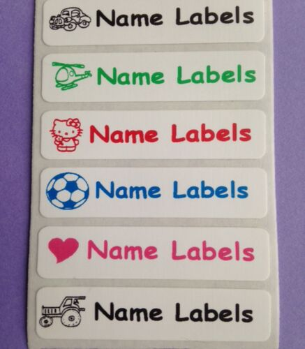 10 Iron on Waterproof Clothes Name School Labels Tapes Tags 46 x 16mm