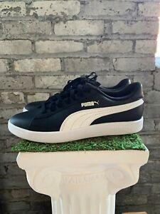 New-Puma-Men-039-s-Smash-V2-Black-White-Athletic-Basics-Sneakers-Shoes-Pick-Size