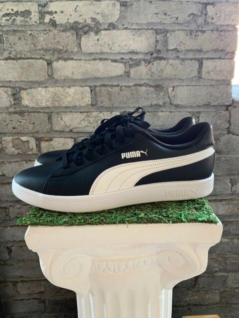 New Puma Men's Smash V2 Black White Athletic Basics Sneakers Shoes - Pick Size