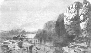 2019 Nouveau Style Devon. Devonshire Coast Near Lynmouth, Antique Print, 1853