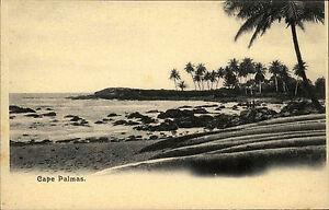 Cape-Palmas-Liberia-Liberien-Afrika-Africa-AK-1900-Strand-Beach-Meer-Palmen