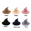 Womens Halloween Witch Hat Modern Cosplay Costume Party Wide Brim Knitted Hat