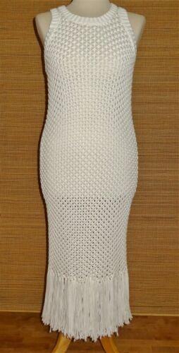 Michael Kors White Knit Fringe Dress / Swimsuit Co