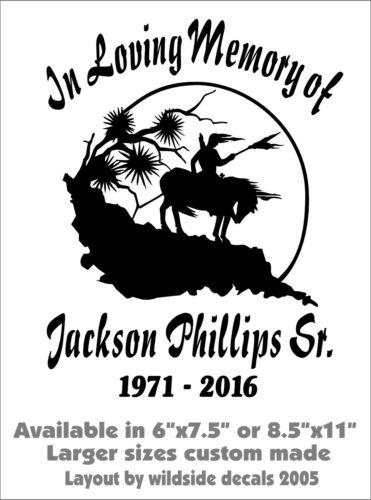 In Loving Memory Of Decal Last Ride Warrior Name Dates Car Vinyl Sticker Custom