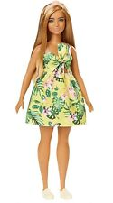 Barbie Fashionistas Doll 126 Tropical Print Dress Blonde Hair